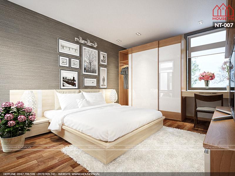 mẫu phòng ngủ đẹp 16m2 hiện đại nhất