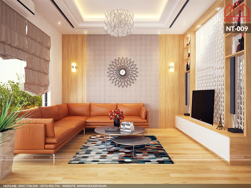 thiết kế nội thất phòng khách cho chung cư đẹp