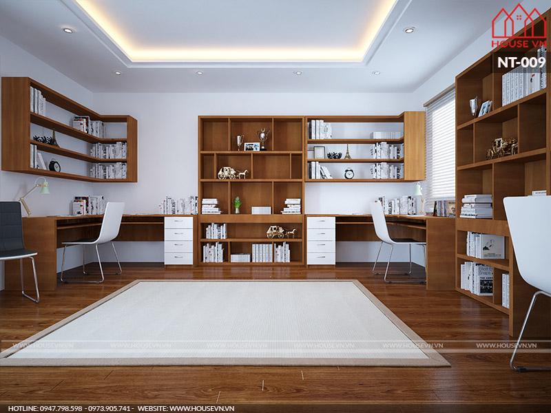 nội thất phòng làm việc tại nhà đẹp và hợp phong thủy