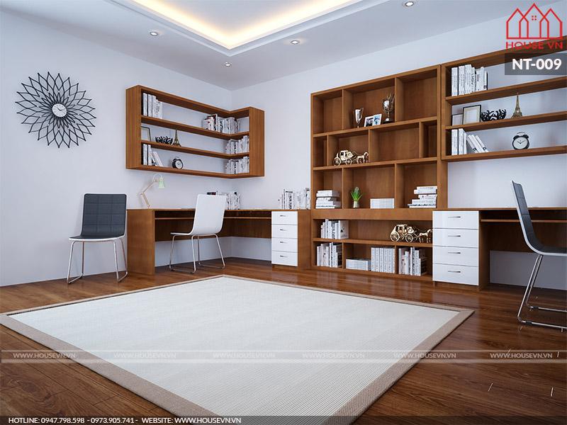 thiết kế nội thất phòng làm việc hiện đại đẹp nhất