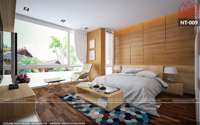phòng ngủ kiểu hiện đại đẹp cho nhà phố
