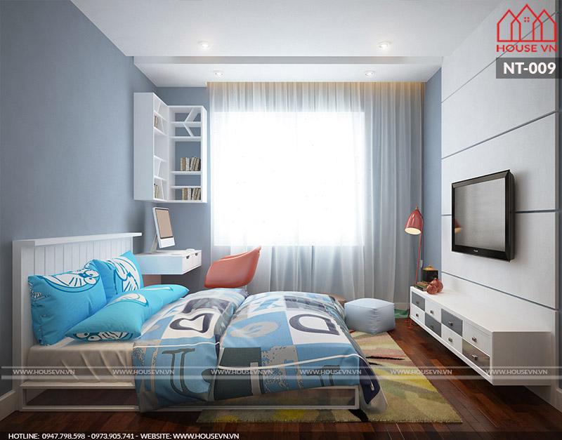 thiết kế nội thất phòng ngủ cho con trai