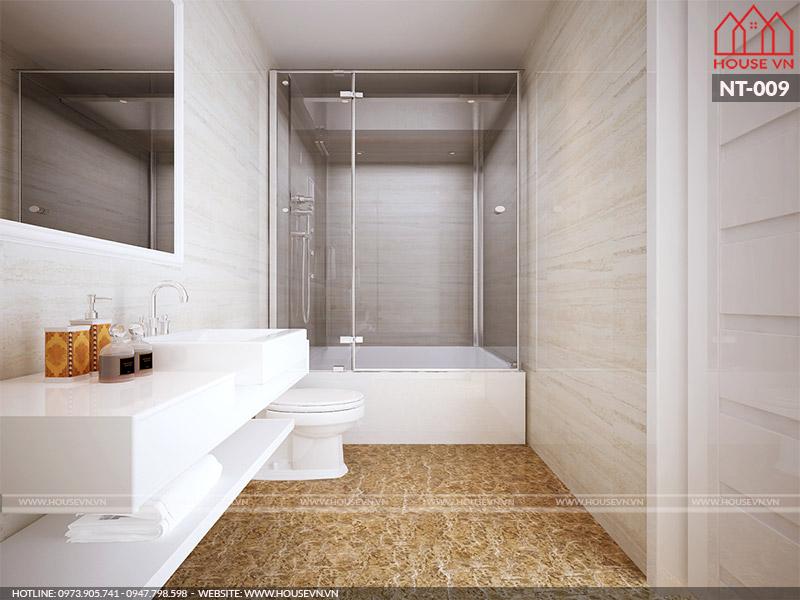 thiết kế phòng tắm hiện đại nhất cho nhà ống