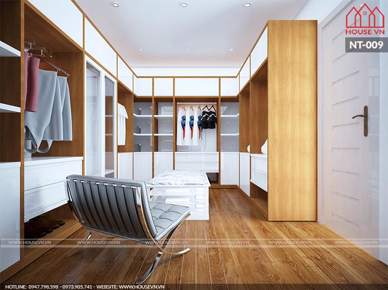 thiết kế phòng thay đồ hiện đại và khoa học