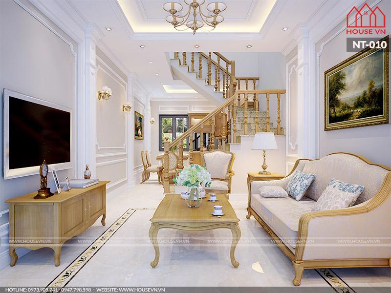 mẫu phòng khách biệt thự đẹp cao cấp