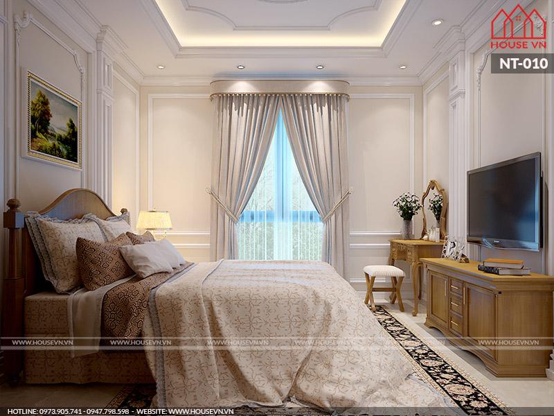 Nội thất phòng ngủ mang đậm phong cách Âu cũng là một sự lựa chọn đúng đắn của nhiều gia chủ.