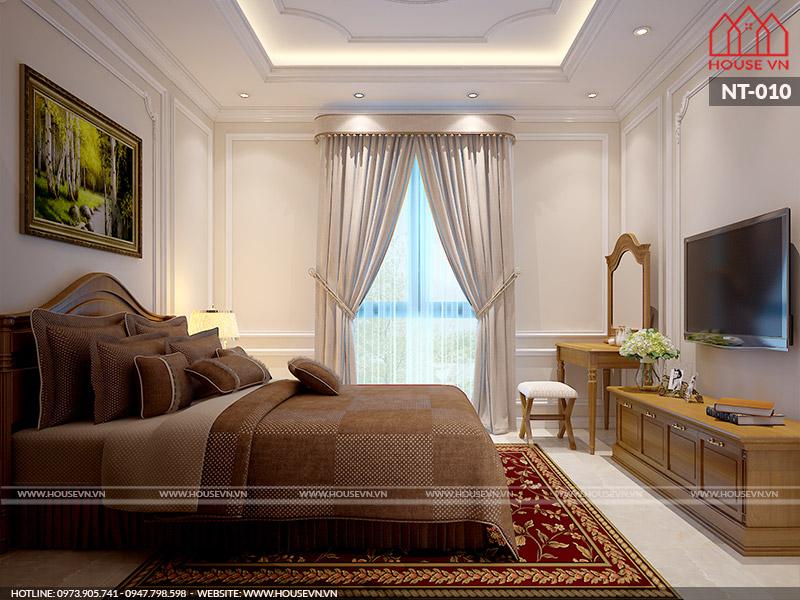 thiết kế phòng ngủ kiểu pháp tiện nghi