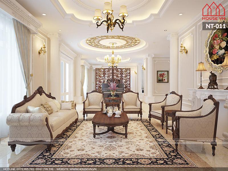 kiểu phòng khách cổ điển đẹp nhất