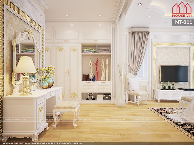 mẫu phòng thay đồ trong phòng ngủ đẹp của biệt thự