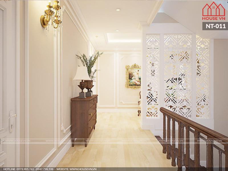 thiết kế nội thất sảnh thang biệt thự kiểu pháp đẹp nhất