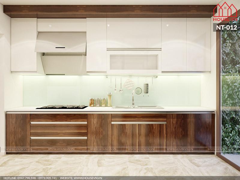 thiết kế nội thất phòng bếp đẹp cho nhà phố