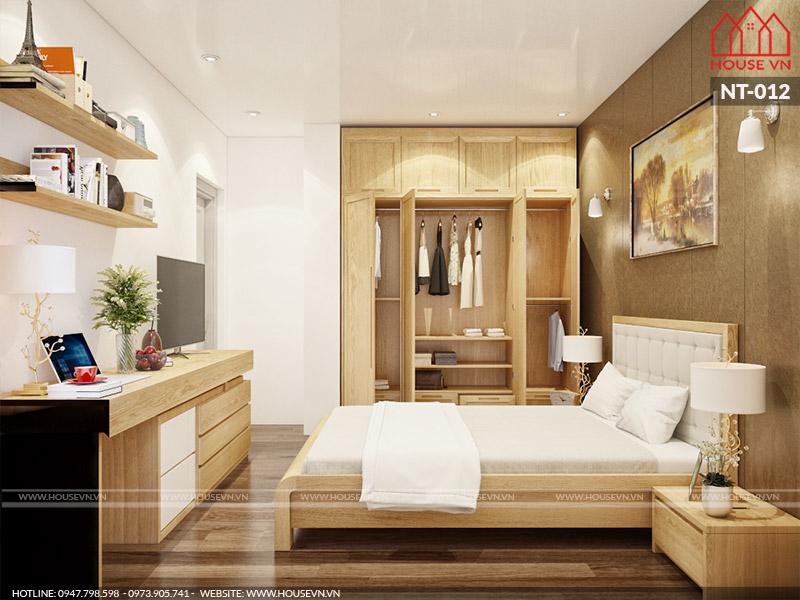 thiết kế nội thất phòng ngủ hiện đại 9m2 đẹp