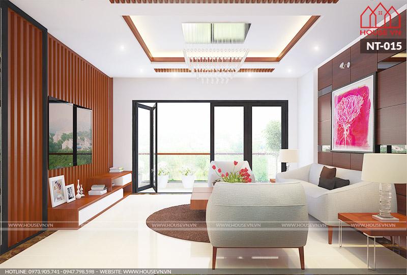 mẫu nội thất phòng khách hiện đại tiện nghi