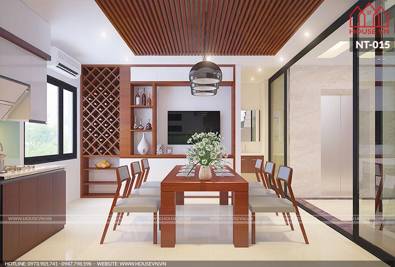 Mẫu thiết kế nội thất phòng bếp ăn tiện nghi tại Hải Phòng