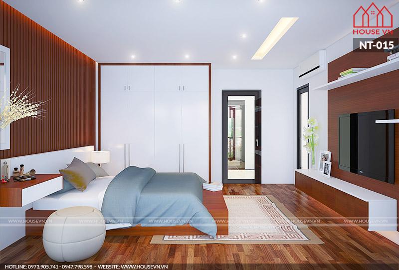 thiết kế nội thất phòng ngủ đẹp cho nhà ống tại Hà Nội