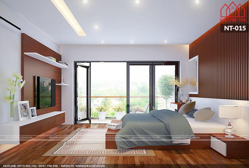 thiết kế phòng ngủ hiện đại 13m2
