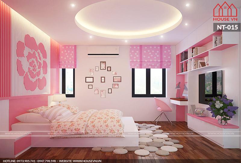 mẫu phòng ngủ dành cho con gái đẹp nhất