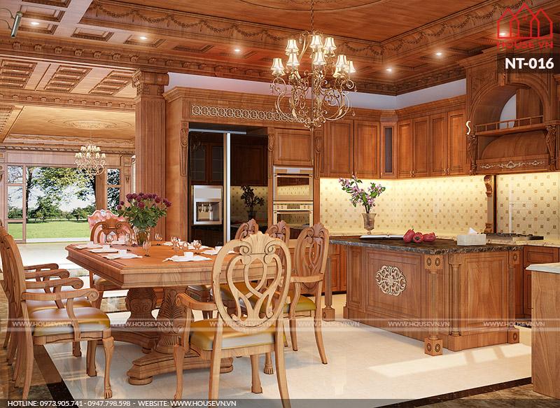 phòng bếp ăn dành cho biệt thự