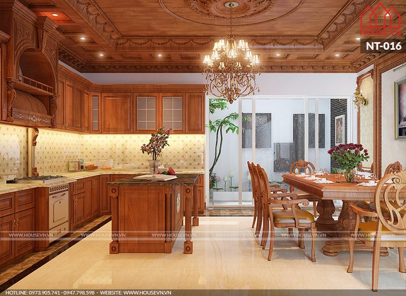 phòng ăn dành cho biệt thự đẹp và sang trọng