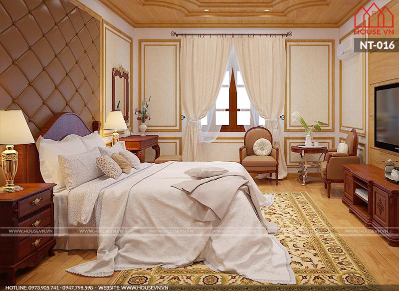 thiết kế nội thất phòng ngủ sang trọng phong cách Châu Âu