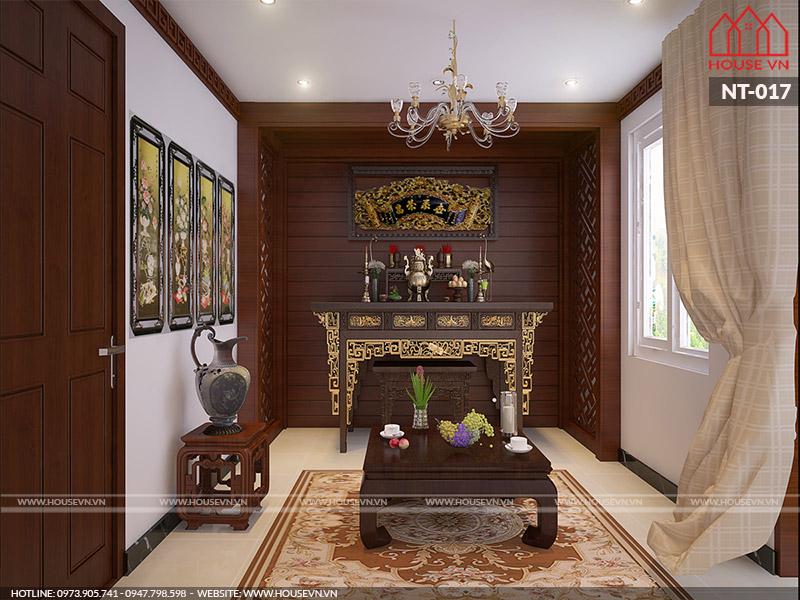 thiết kế nội thất phòng thờ đẹp nhất