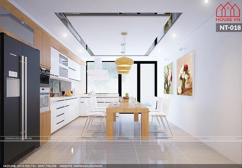 thiết kế phòng ăn và bếp đẹp dành cho biệt thự