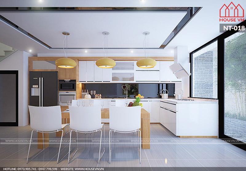 thiết kế nội thất phòng ăn hiện đại hợp phong thủy
