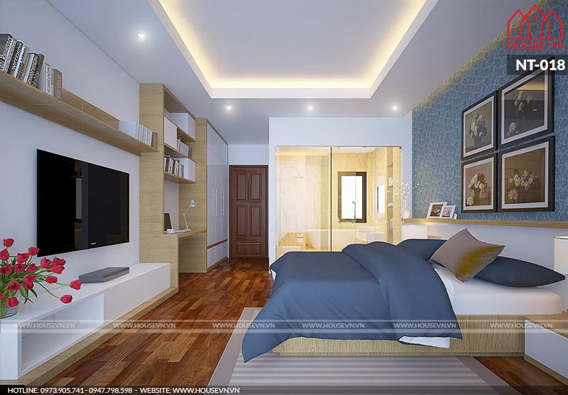 mẫu phòng ngủ 9m2 hiện đại cho cặp vợ chồng