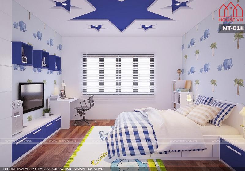 nội thất phòng ngủ hiện đại cho con trai ấn tượng