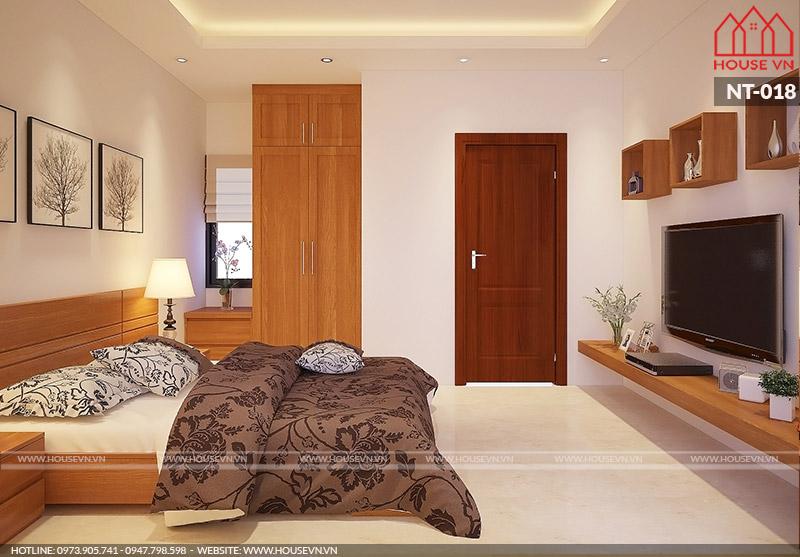 thiết kế nội thất phòng ngủ hiện đại đẹp cho nhà ống 5 tầng