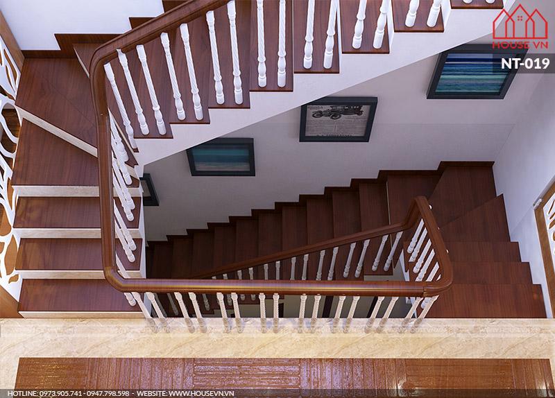 nội thất cầu thang nhà phố hiện đại khoa học