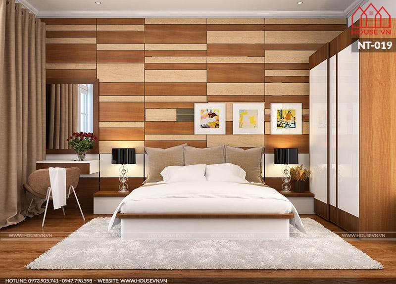 Với vách đầu giường nội thất phòng ngủhiện đại thực sự tạo nên sự thư thái khiến giấc ngủ của bạn được thoải mái hơn.