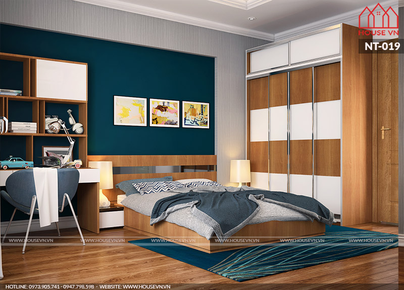 mẫu thiết kế nội thất phòng ngủ hiện đại đẹp tại Hải Phòng