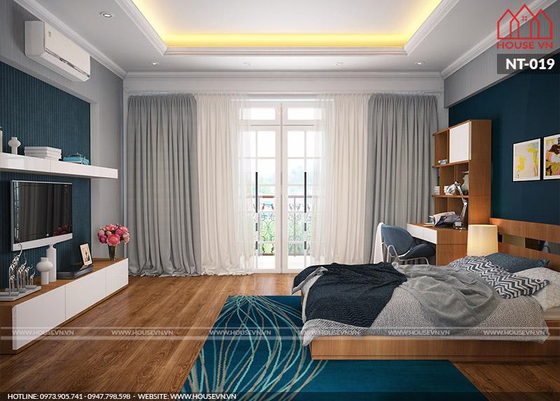 thiết kế nội thất phòng ngủ kiểu hiện đại ấn tượng