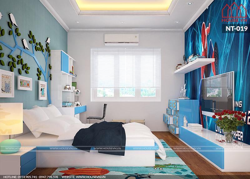mẫu phòng ngủ hiện đại dành cho nhà phố 45m2