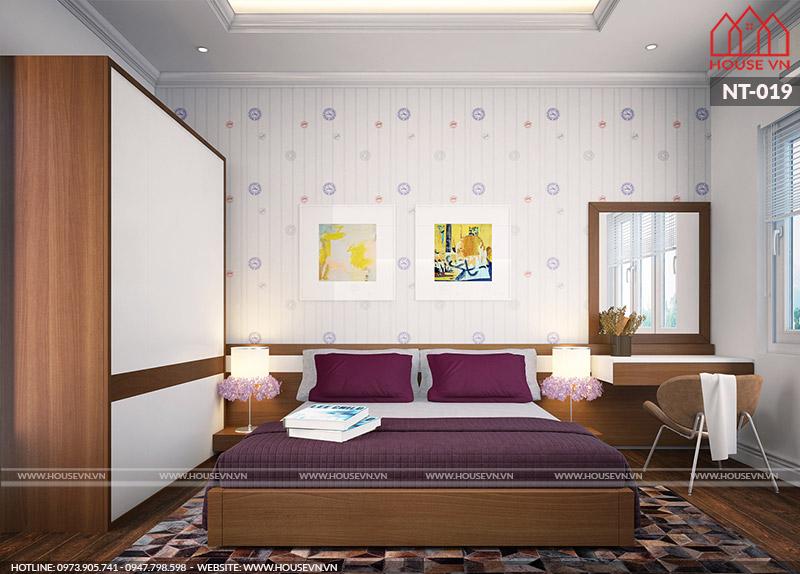 thiết kế nội thất phòng ngủ làm từ gỗ đẹp và sang trọng