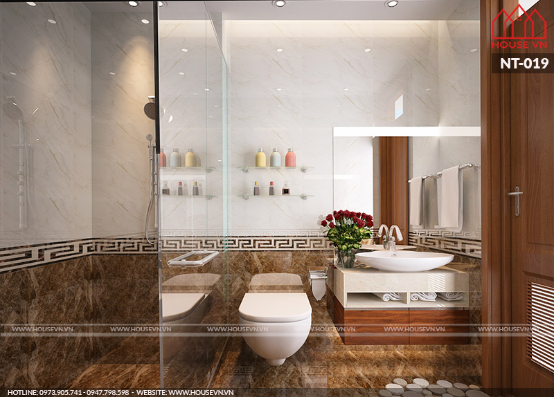 nội thất phòng tắm, phòng vệ sinh của nhà phố 40m2
