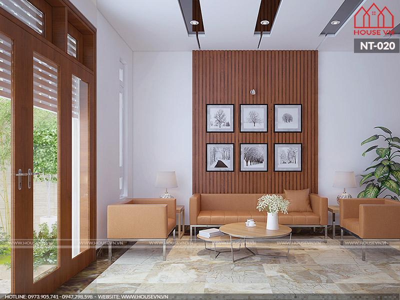 thiết kế phòng khách cho nhà ống đẹp hiện đại
