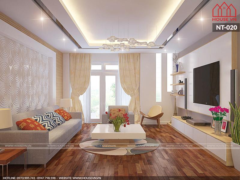 nội thất phòng khách đơn giản hiện đại cho căn hộ chung cư