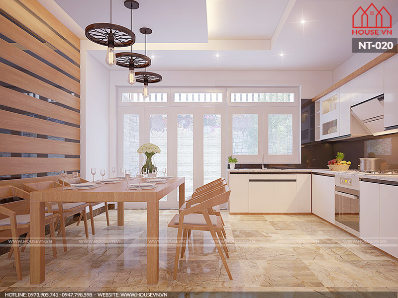 thiết kế phòng ăn hiện đại đẹp năm 2019