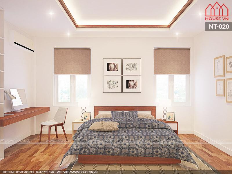 nội thất phòng ngủ 13m2 đẹp hiện đại