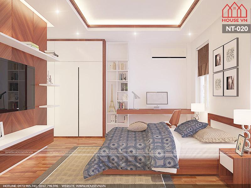 mẫu phòng ngủ cho biệt thự hiện đại