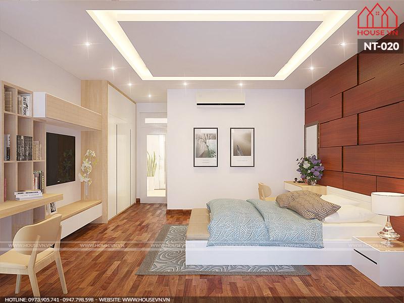 mẫu phòng ngủ đẹp có diện tích sử dụng thoải mái