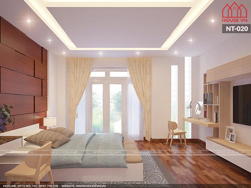 thiết kế phòng ngủ biệt thự đẹp và tiện nghi