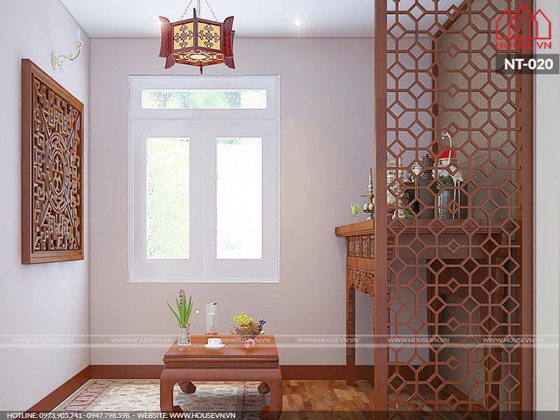 nội thất phòng thờ đẹp và riêng biệt dành cho nhà ống