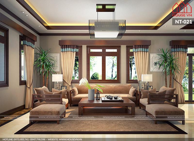nội thất phòng khách biệt thự hiện đại đẹp tại quảng ninh
