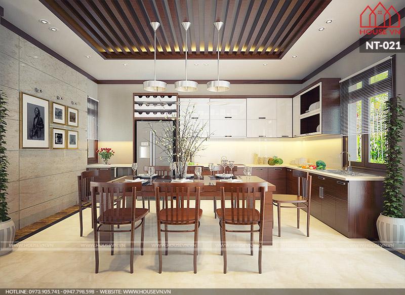 nội thất phòng ăn hiện đại đẹp nhất cho nhà phố năm 2019