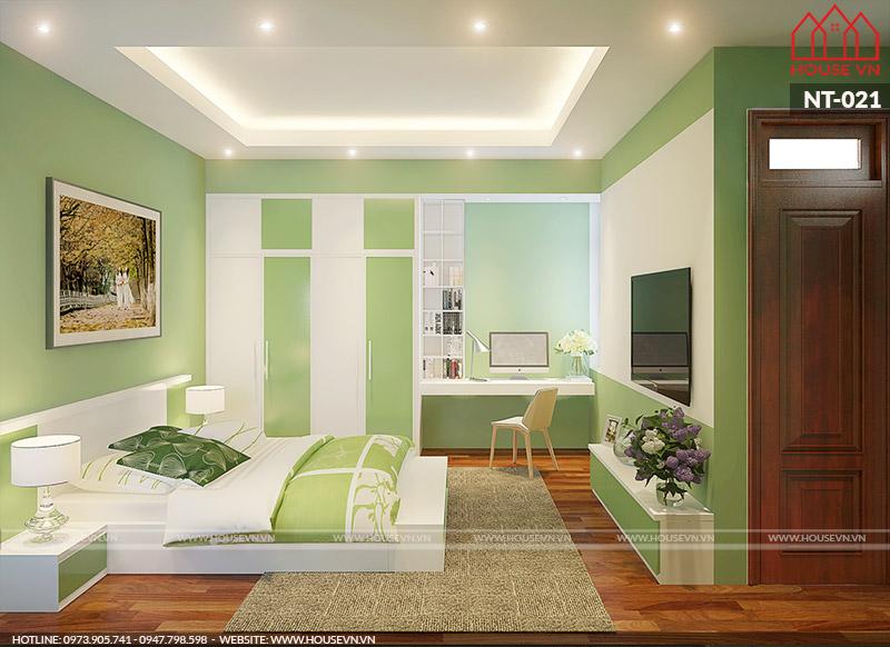 thiết kế nội thất phòng ngủ hiện đại đẹp
