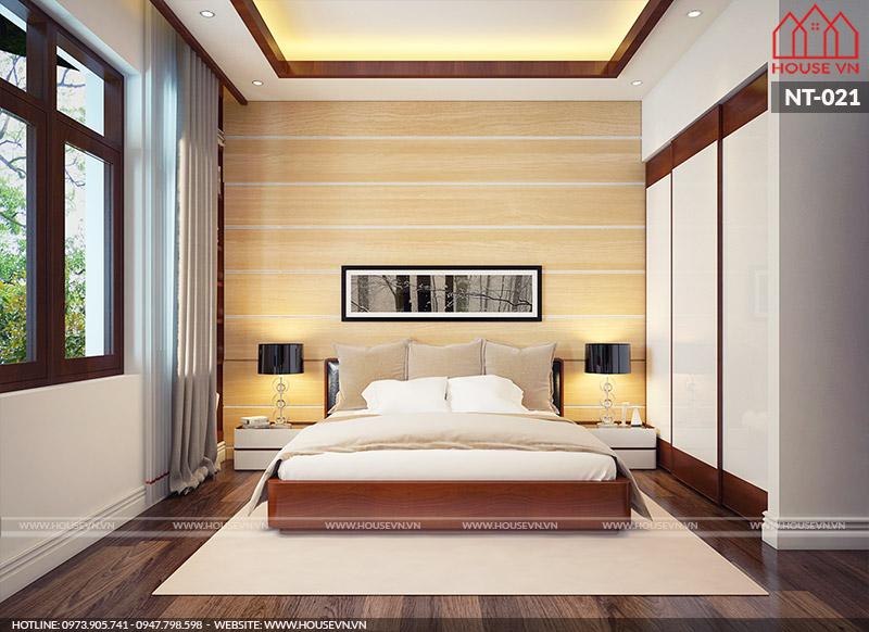 phòng ngủ hiện đại tiện nghi dành cho hai người