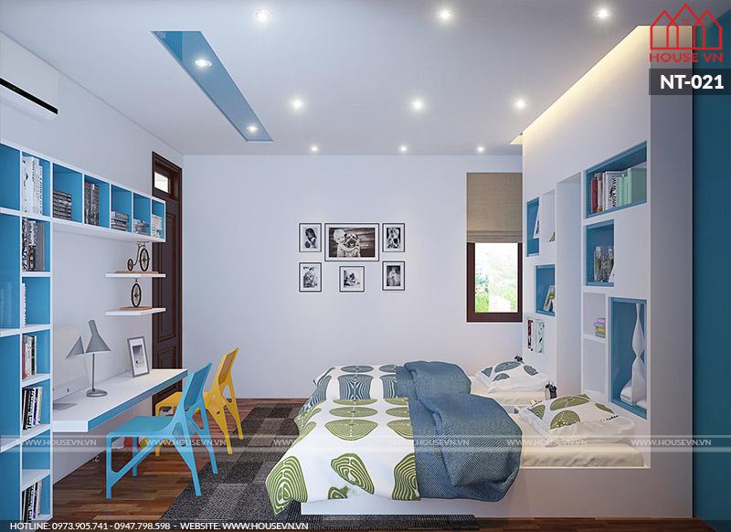 nội thất phòng ngủ, phòng học dành cho con trai